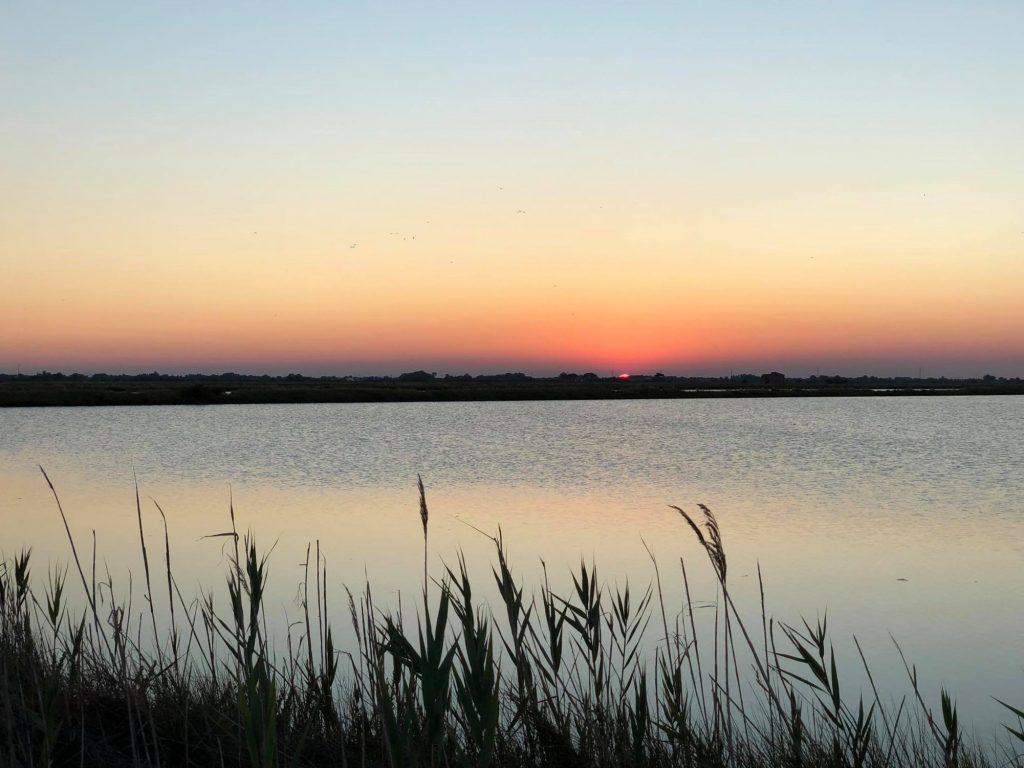 Aperitivo al tramonto alla Salina di Cervia