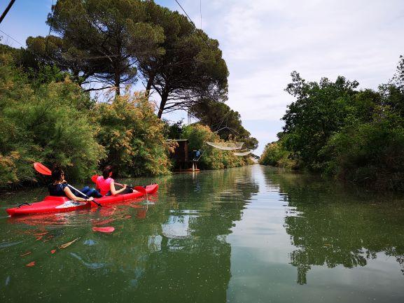 Escursione in canoa alla Salina di Cervia