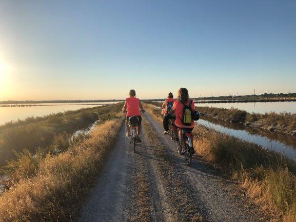 tramonto in bicicletta alla Salina di Cervia
